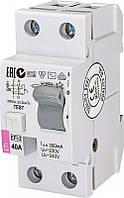 Дифференциальное реле ETI (УЗО) EFI-2 40/0,3 тип AC (10kA) (2064123)