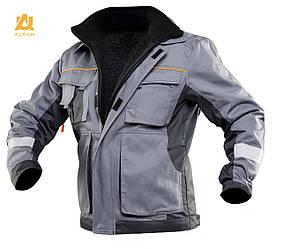 Куртка рабочая на съёмной утепленной подкладке AURUM 4S (спецодежда, флис, утепленная одежда)