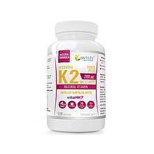 Вітаміни Vitamin K2 VitaMK7 200mcg 120 caps, Wish