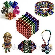 Магнитный конструктор головоломка цветной Неокуб 216 шариков, фото 2