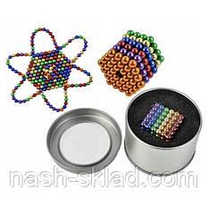 Магнитный конструктор головоломка цветной Неокуб 216 шариков, фото 3