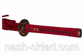Японская катана потрясающий красный бархат - цвет процветания и мира эпохи ЭДО, фото 2