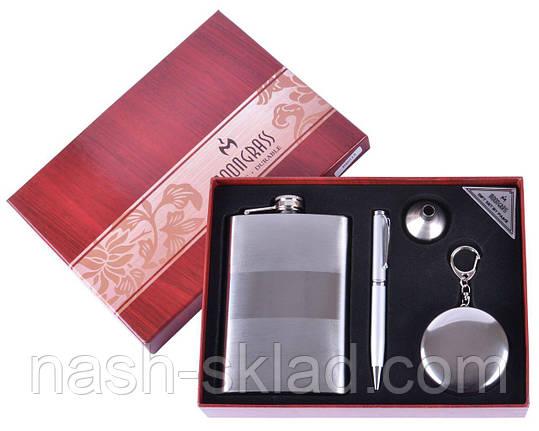 Подарочный набор Серебряная фляга + Ручка, фото 2