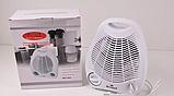 Компактный тепловентилятор дуйка электрический обогреватель Wimpex WX-424 2000W белый, фото 2
