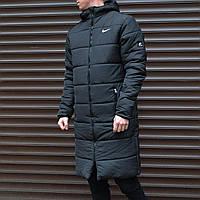 Парка зимняя мужская спортивная Куртка удлиненная Найк S