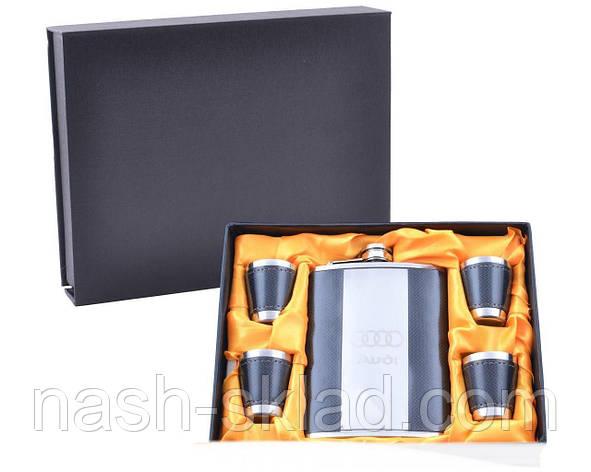 Подарочный набор с Флягой Audi (Черная Кожа), фото 2