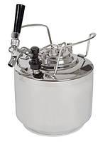 Корнелиус кег с краном и редуктором 6 литра для домашнего пивоварения