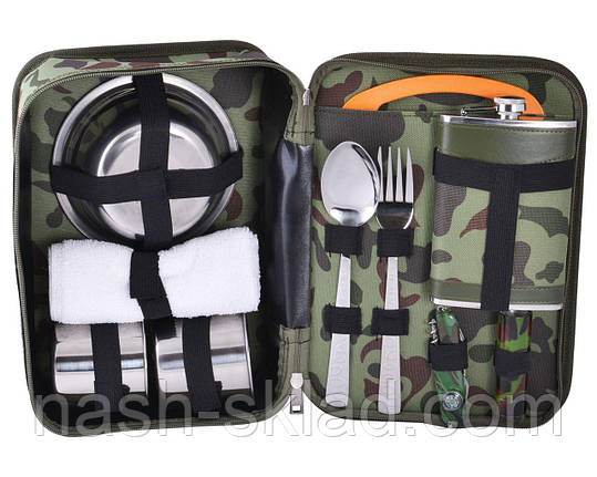 Камуфляжный подарочный набор с флягой для мужчин, фото 2