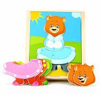 Набор вкладышей «Поменяй одежду медвежонок Катя», МДИ