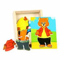 Набор вкладышей «Поменяй одежду медвежонок Миша», МДИ