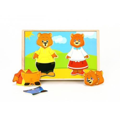 Набор вкладышей «Два медведя», МДИ
