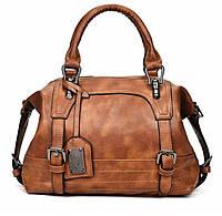 Качественная рыжая женская сумка, фото 1