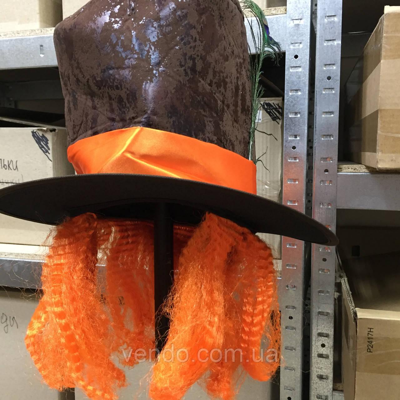 Шляпа цилиндр Безумного Шляпника с париком