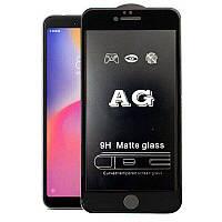 Защитное стекло AG matte для iPhone 6/6S black матовое
