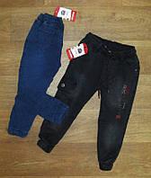 Теплые джинсы (джоггеры) для мальчика Турция, на меху, турецкий трикотаж, детская одежда