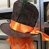 Шляпа цилиндр Безумного Шляпника с париком, фото 3