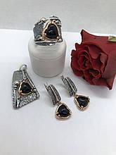 Комплект серебряных украшений Калисто оникс от Ирида-В