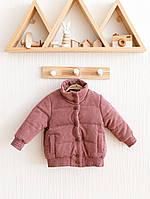 """Вельветовые куртки детские """"Line"""", лавандового цвета. Размеры от 80 до 110 размера"""