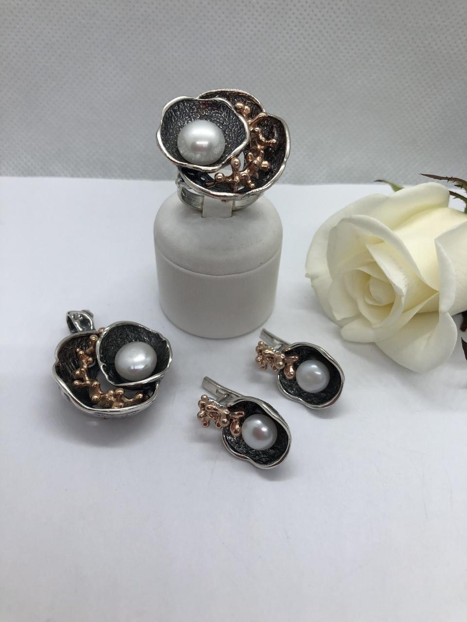 Комплект серебряных украшений Лантана от Ирида-В