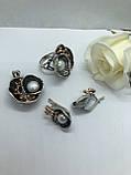 Комплект серебряных украшений Лантана от Ирида-В, фото 2