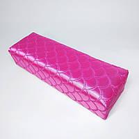 Підлокітник для манікюру текстильний малиновий