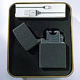 USB зажигалка ZGP4 Черный, фото 2