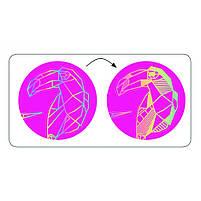 Набор скретч-наклеек металл djeco (бриллиант) Розовый (DJ09736), фото 2