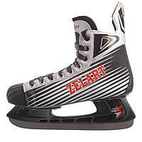 Коньки хоккейные PVC (только размеры 43 и 45, черно-серый)