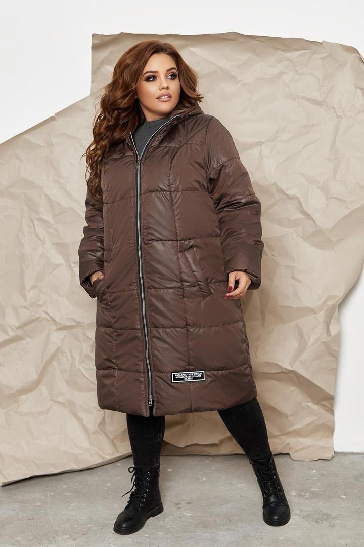 Куртка пальто на молнии Большого размера СУПЕР БАТАЛ, Молодежное куртка пальто больших размеров