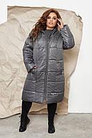 Куртка пальто на молнии Большого размера СУПЕР БАТАЛ, Молодежное куртка пальто больших размеров, фото 2