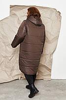 Куртка пальто на молнии Большого размера СУПЕР БАТАЛ, Молодежное куртка пальто больших размеров, фото 4