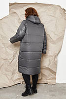 Куртка пальто на молнии Большого размера СУПЕР БАТАЛ, Молодежное куртка пальто больших размеров, фото 5