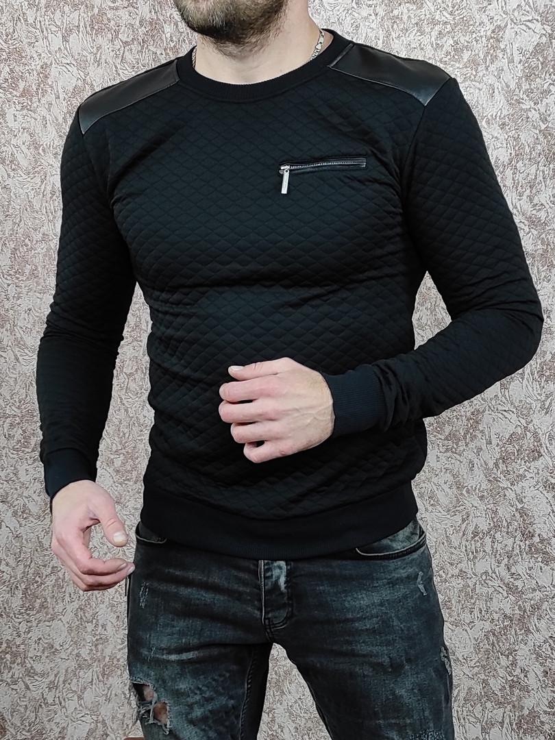 Мужской свитшот стеганый в ромбик Сл 201