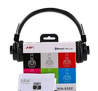 Наушники беспроводные NIA X5SP Bluetooth 2 в 1 (наушники, встроенная колонка), ЦВЕТ ЧЕРНЫЙ