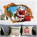 Интерьерная наклейка 3D Санта и олень  50х70см, фото 6