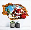 Интерьерная наклейка 3D Санта и олень  50х70см, фото 5
