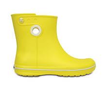 Сапоги резиновые унисекс дождевики Кроксы с кружочком / Crocs Jaunt Shorty Boot (15769), Желтые 35