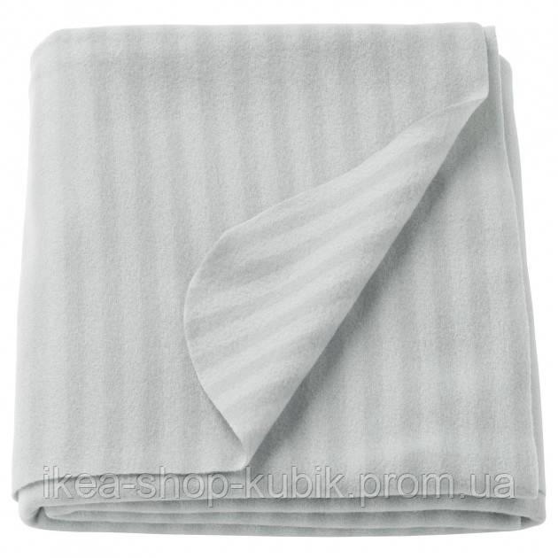 Плед, сірий, 120x160 см ІКЕА VITMOSSA ВІТМОССА, 903.048.89