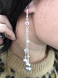 Серебрянные серьги Молекула от Ирида-В, фото 3