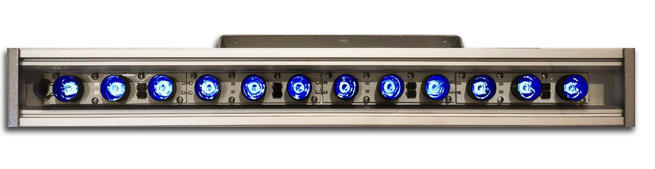 Линейный светильник 36W  530мм IP67 Wall washer синий