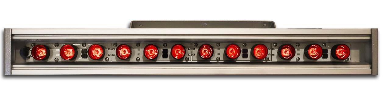 Линейный светильник 36W  530мм IP67 Wall washer красный
