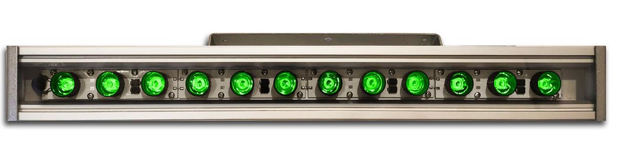Линейный светильник 36W  530мм IP67 Wall washer зеленый