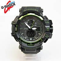 CASIO G-SHOCK GW-A1100 NEW BLACK/GREEN. Репліка ТОП якості!