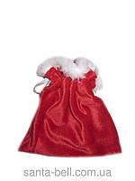 Новогодний Рождественный мешочек для подарков красный