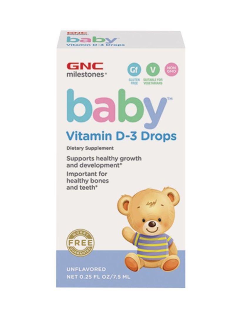 GNC kids baby vitamin d3 drops 7.5 ml