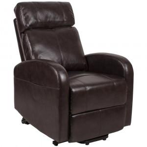 Подъемное кресло с двумя моторами (коричневое) OSD-CAROL-PU09-1LD