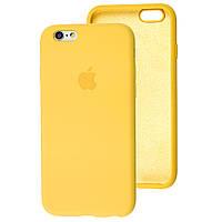 Чехол Silicone Case full для iPhone 6/6S Yellow