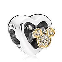 Серебряный шарм Pandora Disney Mickey & Minnie Love 802331203
