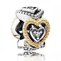 Серебряный шарм Pandora Celebration Of Love