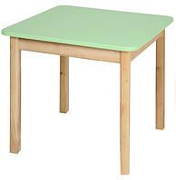 Детский деревянный столик цветной